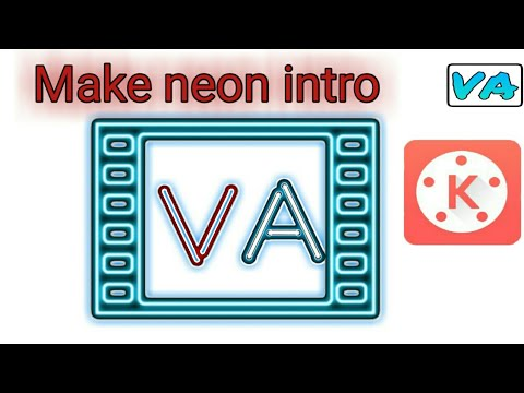How to make simple Neon Text Intro on android | Kinemaster video editor