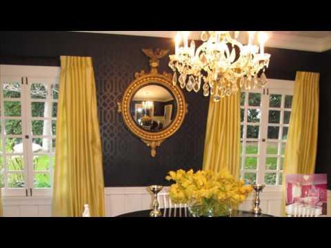 Контраст желтого и черного цвета в интерьере