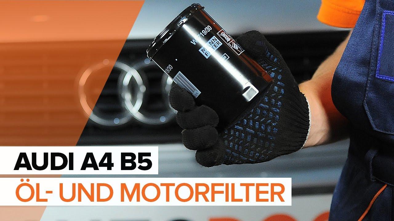 lwechsel audi a4 b5 wie motor l und lfilter wechseln