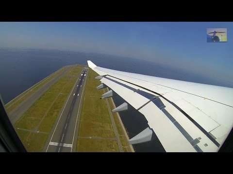 Tokyo Haneda - Lufthansa A340 complete take-off with view to Tokyo City