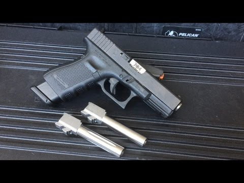 Impressive Glock Conversion Barrel .40 to 9mm (G23 by H.A.D $125)
