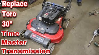 how-to-replace-a-transmission-on-a-toro-30-inch-time-master-mower-with-taryl