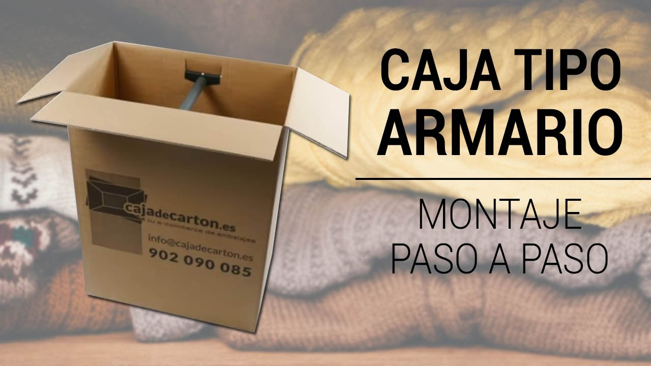 CAJA ARMARIO DE CARTÓN 750X450X1000mm. - YouTube
