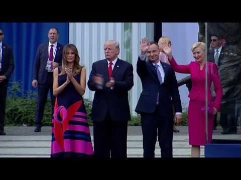 Thumbnail: Polish first lady passes over Trump's handshake
