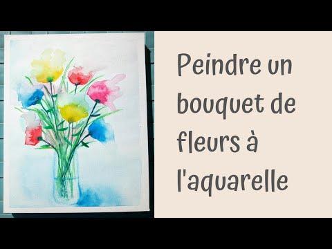 Comment Peindre Un Bouquet De Fleurs Abstrait à L Aquarelle