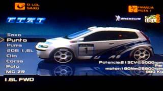 list of cars--v rally 3 ps2