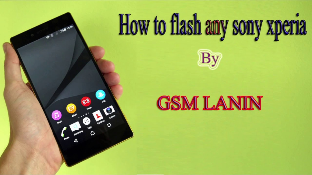 how to flash any sony xperia using flash tool