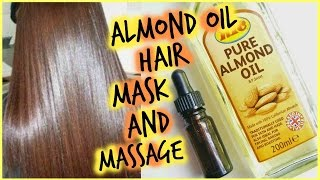 How to Apply Almond Oil Hair Mask for FAST Hair Growth │  Scalp Massage to Stimulate Hair Growth