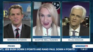 Newsmax Prime | Ellis Henican and Scottie Nell Hughes talk about the latest polls in the GOP race