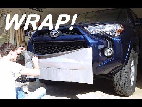 2016 Toyota 4runner Front Bumper Vinyl Wrap Youtube