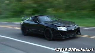 740 WHP Supra takes off like a bat out of hell