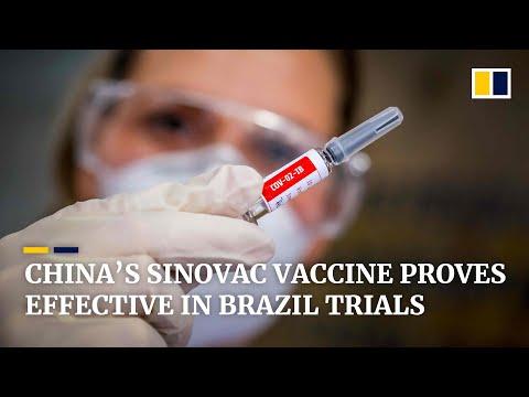 China's Sinovac Covid-19 vaccine proves more than 50 per cent effective in Brazil trials