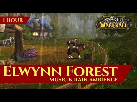 Vanilla Elwynn Forest - Music & Rain Ambience (1 hour, 4K, World of Warcraft Classic)