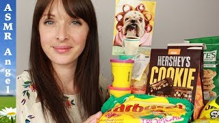 ASMR Soft Spoken Unboxing & Eating Candy from the USA
