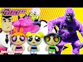 POWERPUFF GIRLS Toys Battle Mojo Jojo IN REAL LIFE, Power Puff Girls Flipped Out Epic Toy Channel