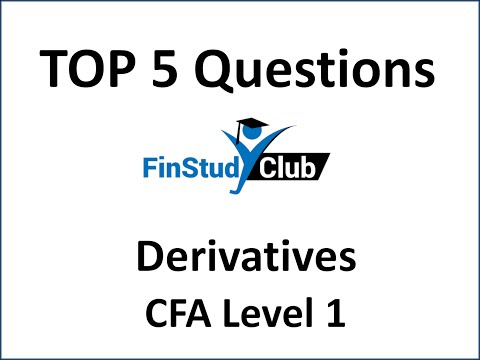 Closing Bell: Top 5 Qs: CFA L1 Derivatives