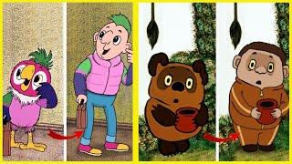 Как выглядели бы персонажи советских мультфильмов, если бы их изобразили людьми. ХУМАНИЗАЦИЯ!
