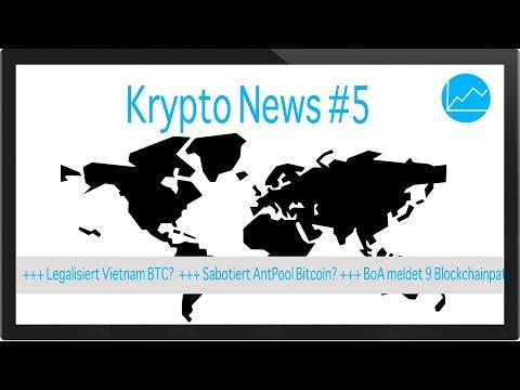 Krypto News #5: Sabotiert Antpool Bitcoin? Bank of America mit Blockchain Patenten  Legalisiert Viet