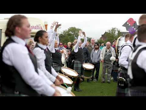 Scottish Power Pipe Band Drum Corps Drum Salute 2018