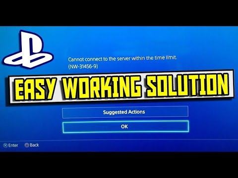 HOW TO FIX CANNOT CONNECT TO SERVER & DNS ERROR ON PS4 (NW-31456-9 & NW-31520-1) *WORKING JAN 2018*