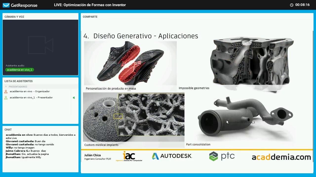 LIVE: Optimización de Formas con Inventor - YouTube