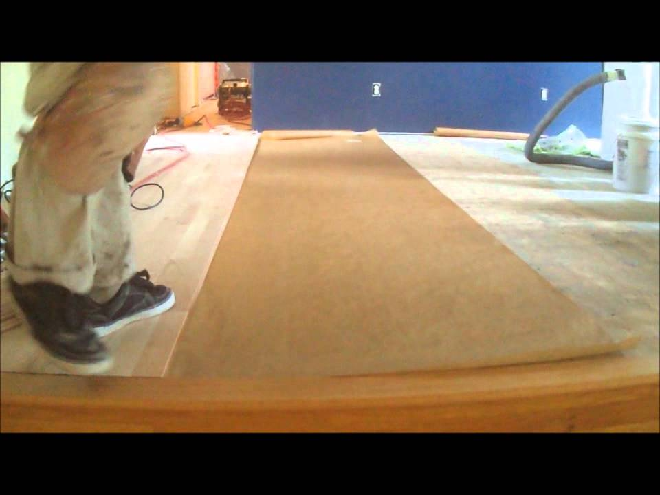 nail down hardwood floor underlayment: how to - youtube