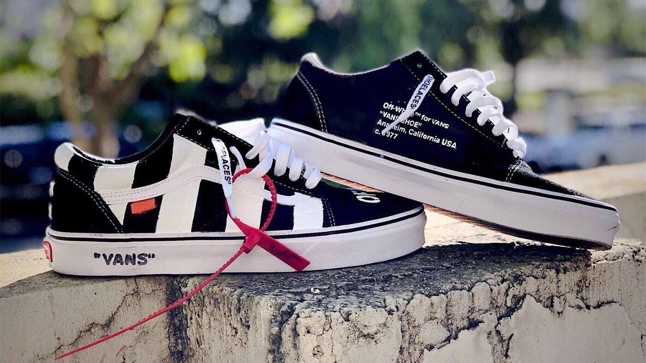 47fdea9dc8 CUSTOM OFF WHITE VANS OLD SKOOL! VANS x OFF WHITE + ON FEET - YouTube