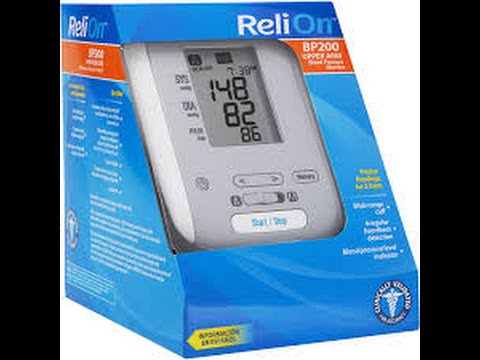 Relion Bp200 Blood Pressure Monitor Unboxing And Review Youtube