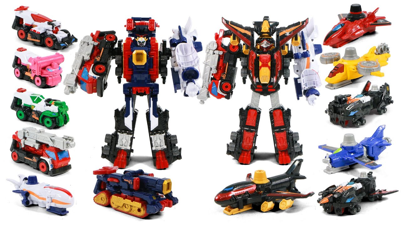 PowerRangers Lupin Force VS Patrol Force DX SirenStriker VictoryStriker Vehicles Combination To Kais