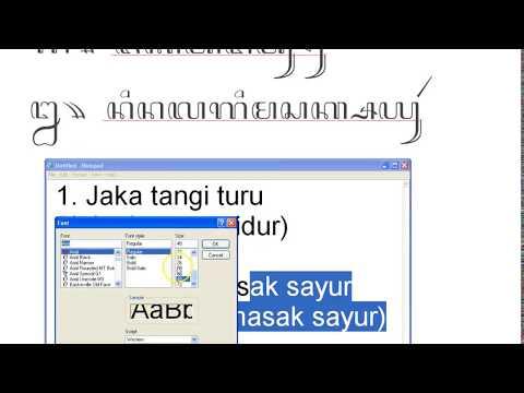 Contoh Cara Menulis Kalimat Aksara Jawa Youtube