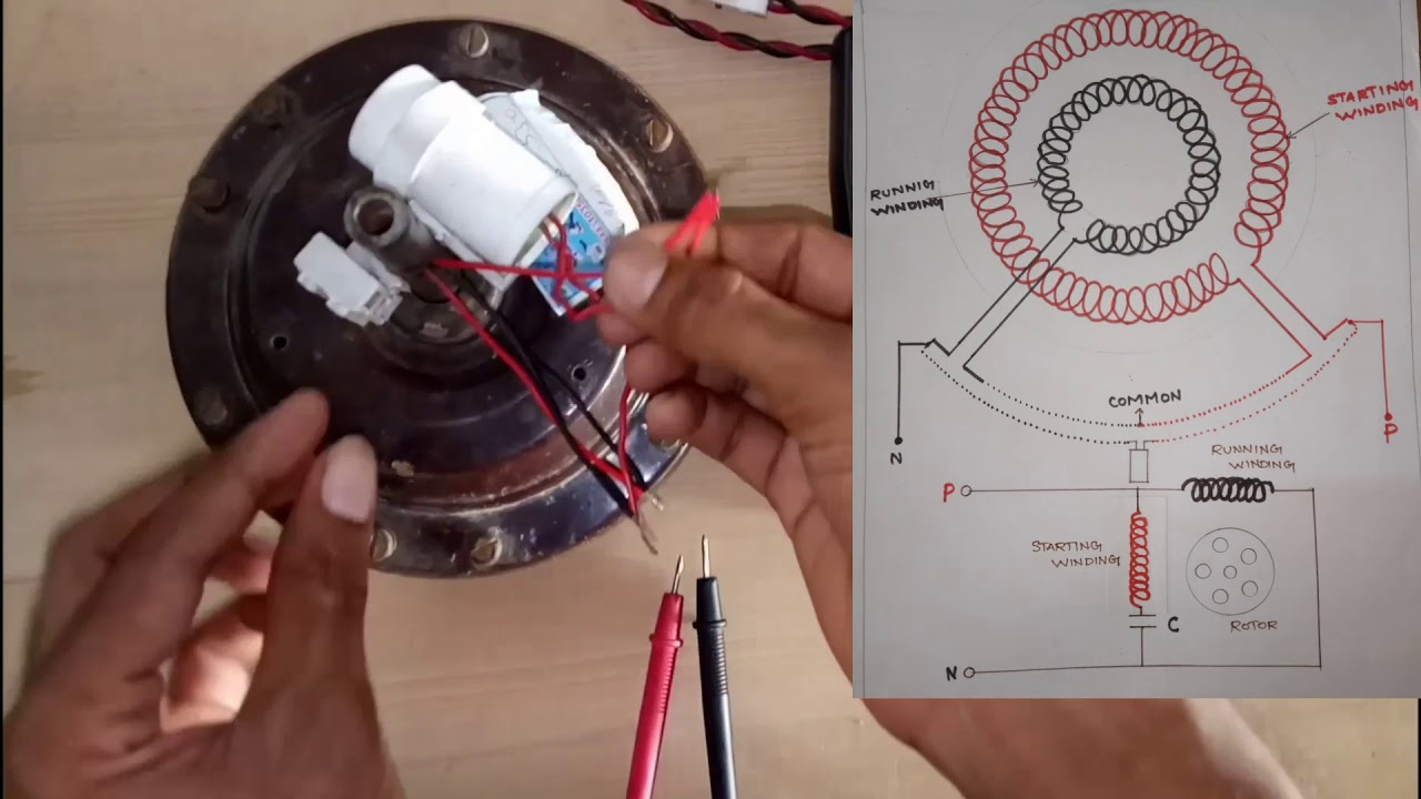 Ceiling Fan Connection With Capacitor