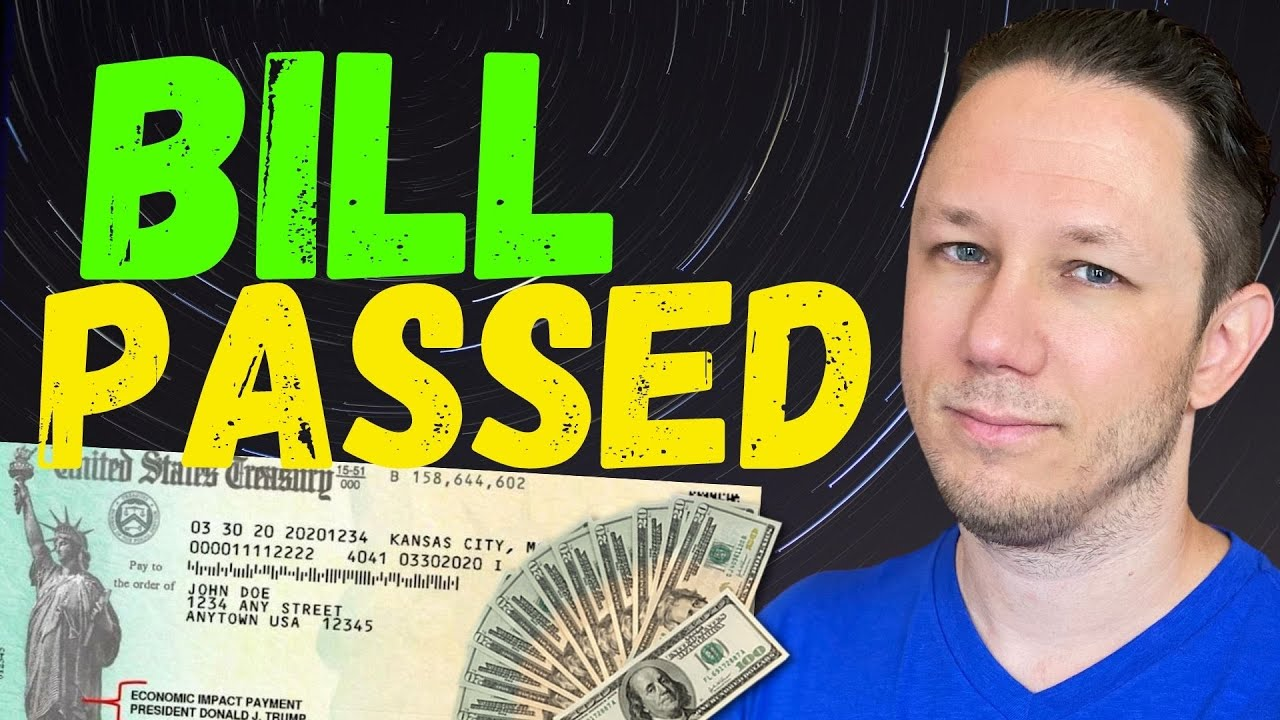 BILL PASSED - Second Stimulus Check Update - YouTube