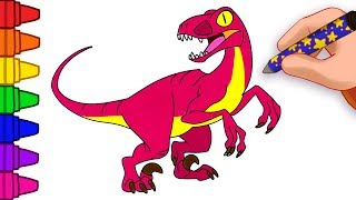 How To Draw a Dinosaur | Drawing a Velociraptor | Club Baboo Draw Dinosaurs