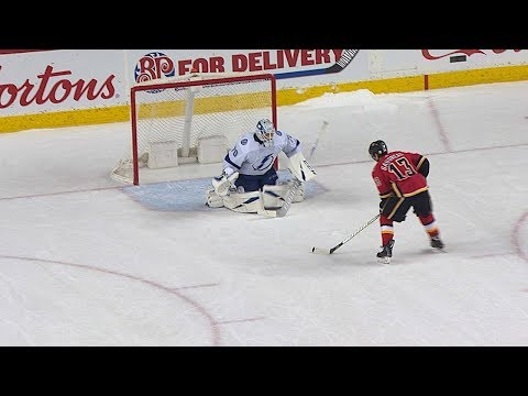 Lightning and Flames battle for the win in intense shootout