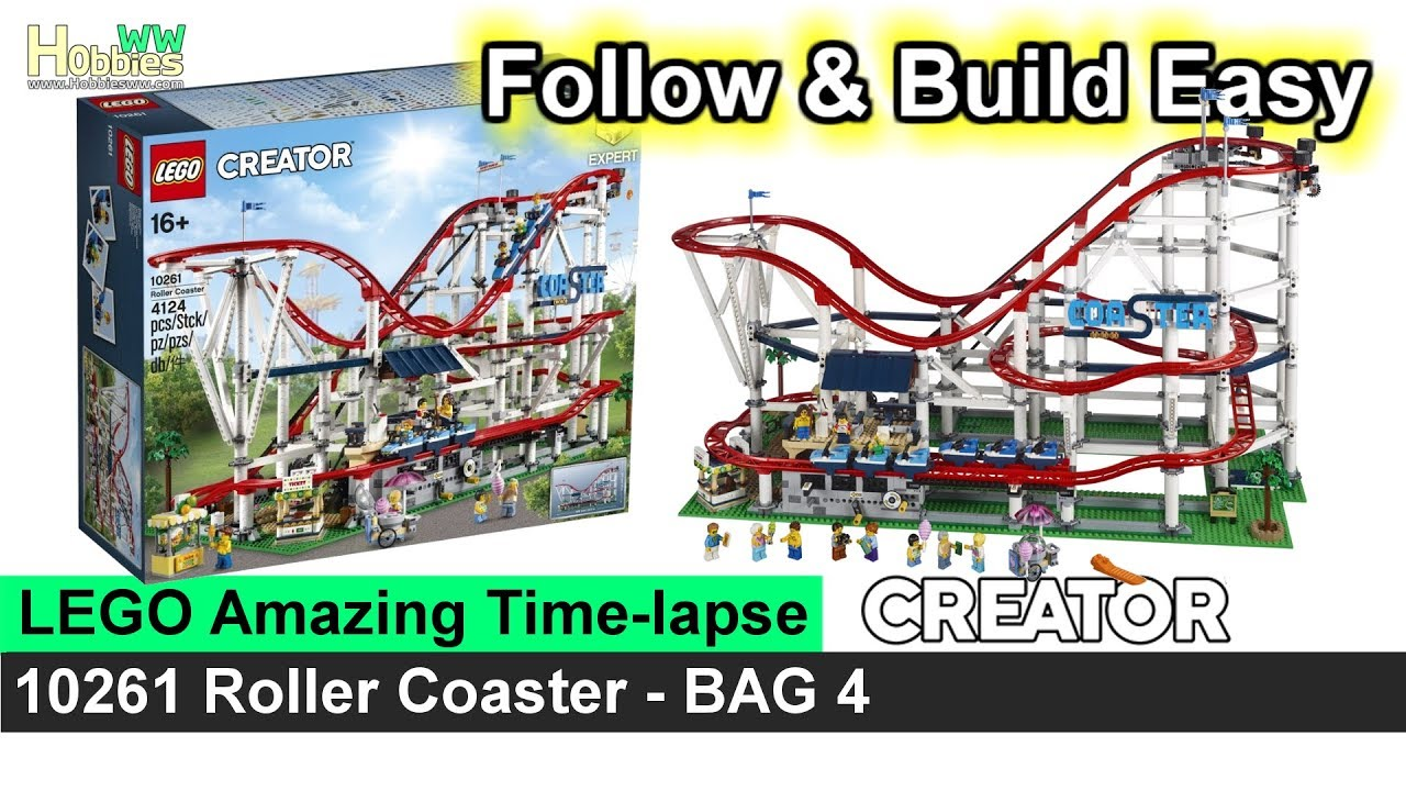 LEGO Creator 10261 Roller Coaster (Bag4) - Video Instructions / Speed Build  / Time-lapse
