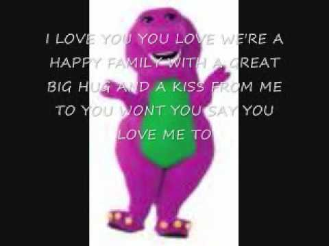Barney i love you lyrics