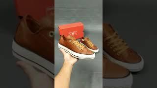 Sepatu Wanita Converse All Star Low OX Leather Brown White
