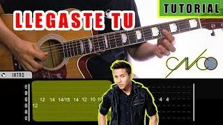 Cómo Tocar Llegaste Tu De Cnco, Prince Royce En Guitarra  Tutorial + Pdf