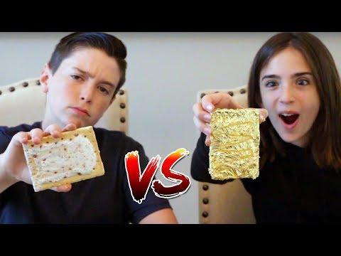 THE 24K GOLD POP TART!! (Gold Food vs Real Food Challenge)
