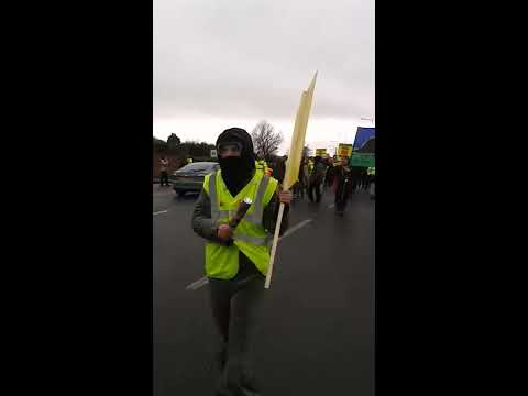 March To The Cuadrilla Fracking Site 25-02-2017