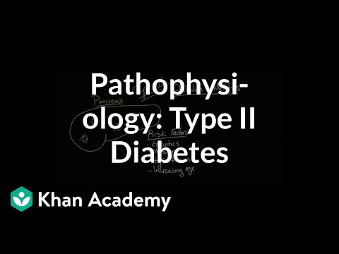 Pathophysiology - Type II diabetes | Endocrine system diseases | NCLEX-RN | Khan Academy