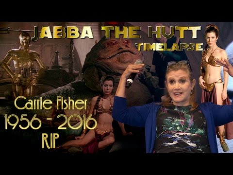 RIP Carrie Fisher - Jabba The Hutt ((QUICK STAR WARS PRINT TIMELAPSE))
