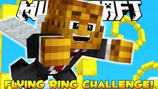 Minecraft 1.9 Snapshot Challenge: Flying Ring Challenge NO MODS (Fly Like Superman)