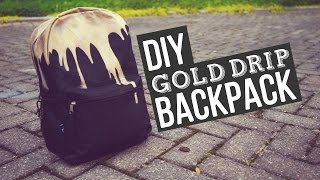 One of Letitia Kiu's most viewed videos: ✂ DIY Gold Drip Backpack