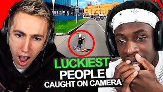 SIDEMEN REACT TO THE 20 LUCKIEST PEOPLE