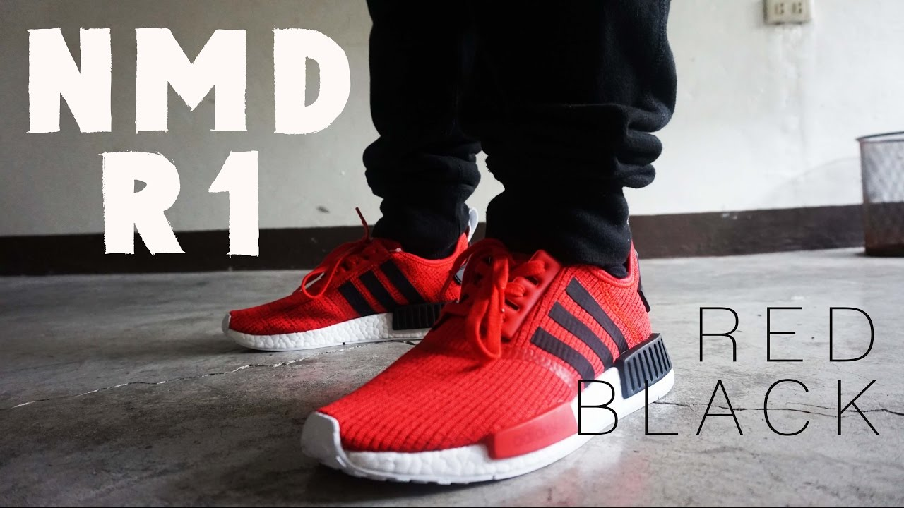 low priced 64653 9e237 Adidas NMD R1 RED BLACK 2017 QUICK LOOK