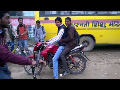 bike stunt saraswati vidha mandir rxl