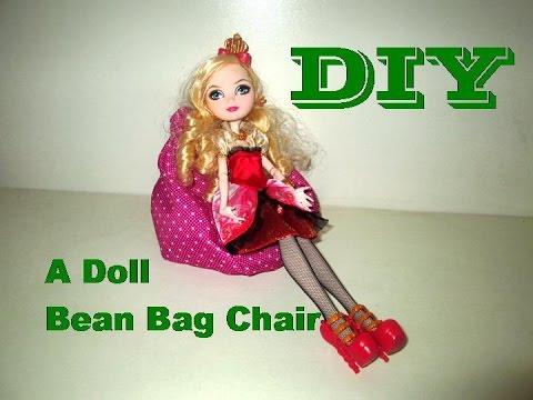 DIY How To Make A Doll BeanBag Chair Como Fazer Um Puff Para Bonecas