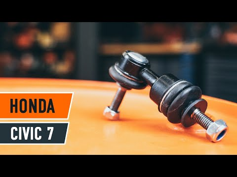 How to replace front anti roll bar link Honda Civic 7 TUTORIAL | AUTODOC