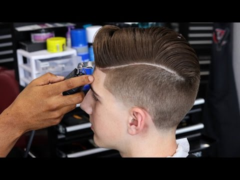 BARBER TUTORIAL: COMBOVER   TAPER FADE   BLOW DRY AND STYLE   SHEAR WORK